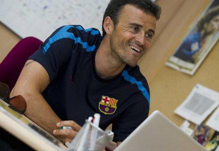 Luis Enrique, 43 anni (Infophoto)