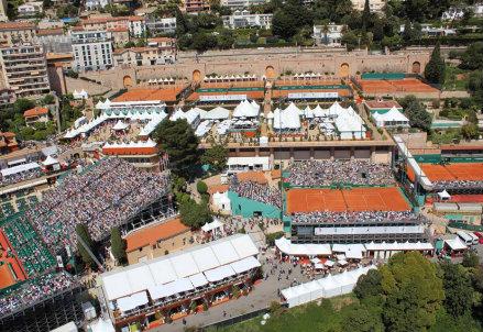 Veduta aerea del complesso di Montecarlo