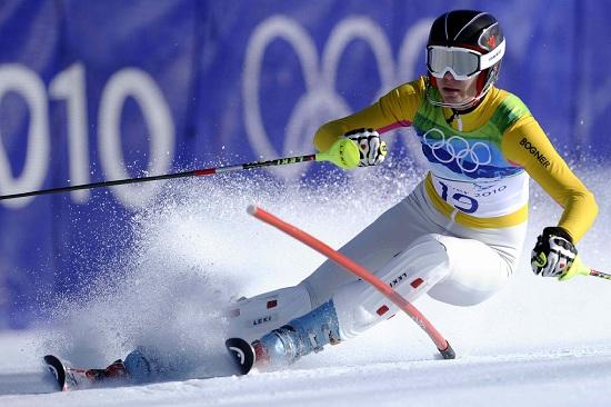 Maria Riesch in azione (Infophoto)