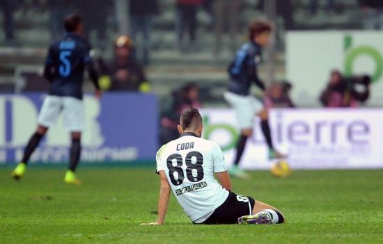 Massimo Coda, uno dei tanti infortunati in Serie A (Infophoto)