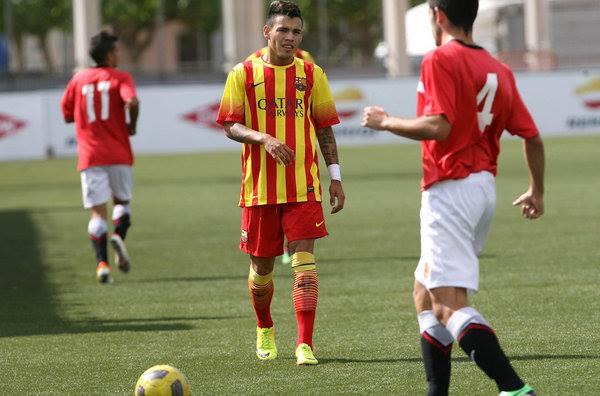 Maxi Rolòn, esterno argentino del Barcellona (dall'account facebook.com/Maxi-Rolòn)