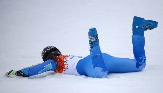 Tina Maze è campionessa olimpica ex-aequo con Dominique Gisin (Infophoto)