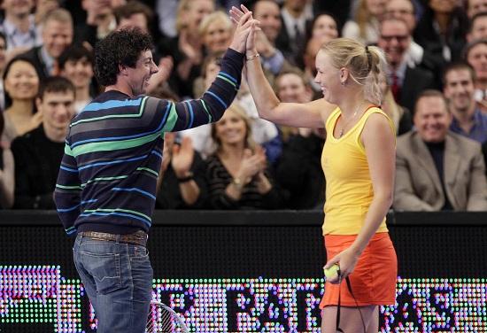 Rory McIlroy, 25 anni, e Caroline Wozniacki, 23 (Infophoto)