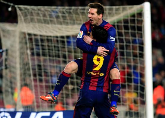 Leo Messi, 27 anni, e Luis Suarez, 28 (Infophoto)