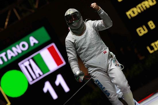Aldo Montano oggi sarà in pedana con i compagni di squadra (Infophoto)