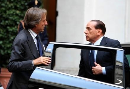 Luca di Montezemolo e Silvio Berlusconi (Infophoto)