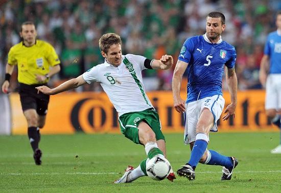 Un'immagine della partita degli Europei 2012 (Infophoto)