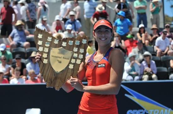 Garbine Muguruza, 20 anni, a Hobart ha vinto il primo titolo WTA (Infophoto)