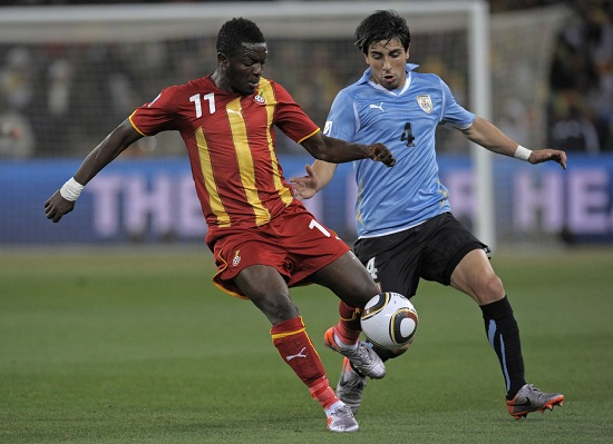 Sulley Muntari con la maglia del Ghana (Infophoto)