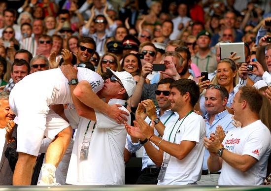 Ivan Lendl con Andy Murray a Wimbledon 2013 (Infophoto)