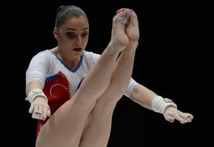 Aliya Mustafina, 20 anni (Infophoto)