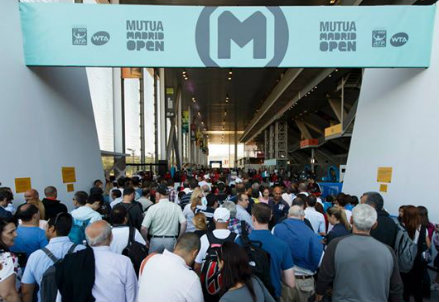 L'ingresso al Mutua Madrid Open