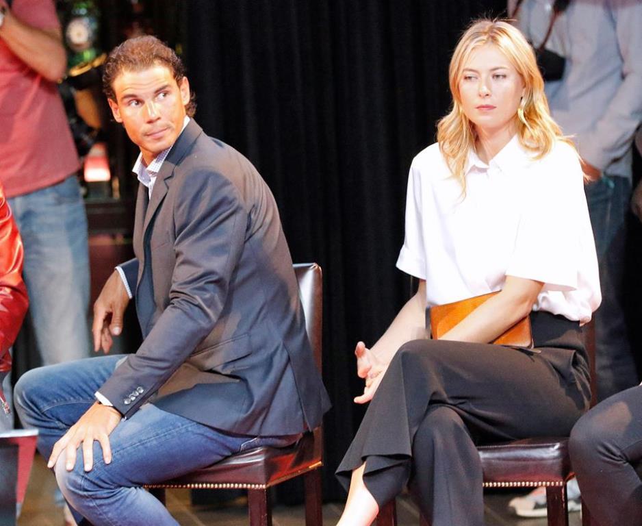 Rafa Nadal (28 anni) e Maria Sharapova (28), i campioni in carica (dall'account ufficiale facebook.com/mutuamadridopen)