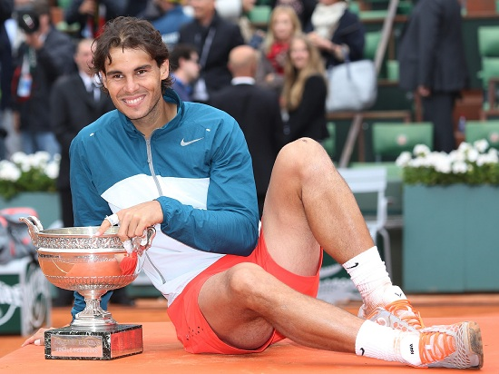 Rafa Nadal, 28 anni, nove volte vincitore del Roland Garros (Infophoto)