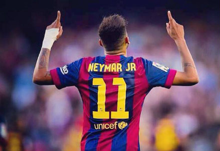 Neymar, attaccante Barcellona (Infophoto)