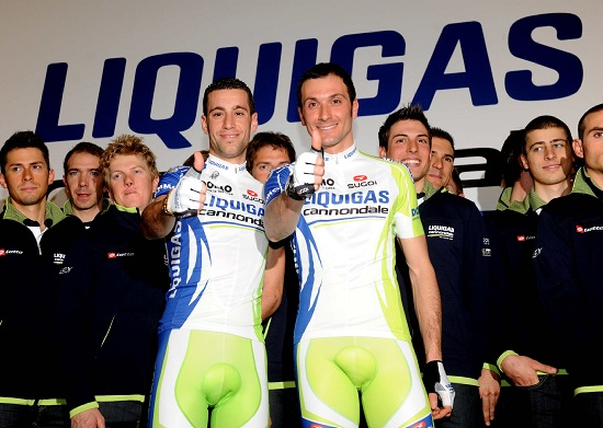 Vincenzo Nibali e Ivan Basso alla Liquigas (Infophoto)