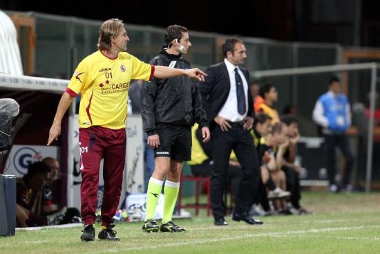 Davide Nicola, tecnico del Livorno (Infophoto)