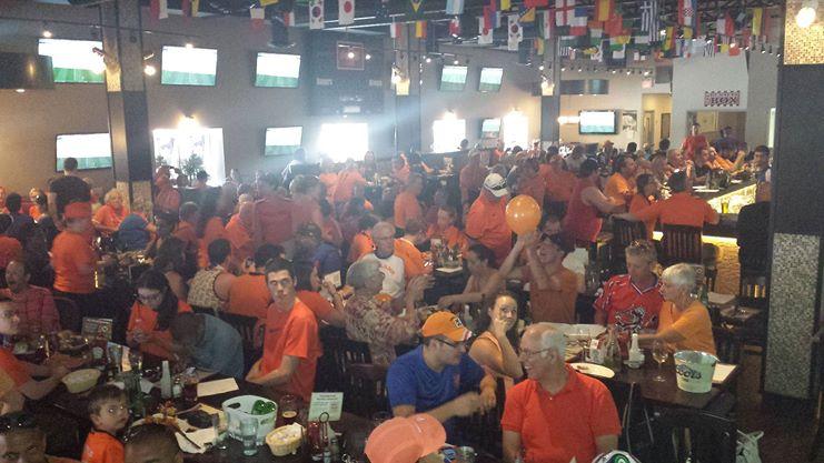 I tifosi dell'Olanda sono pronti alla semifinale contro l'Argentina
