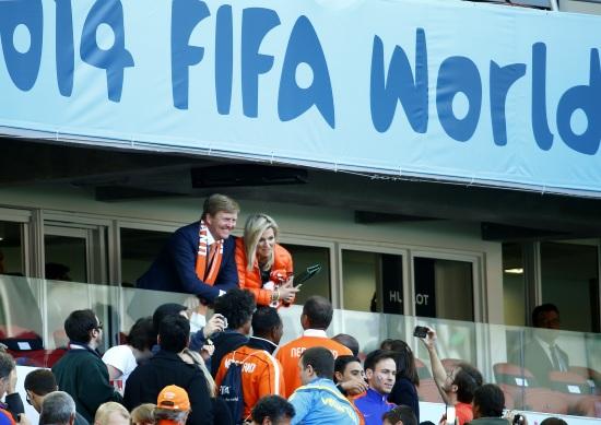 I reali d'Olanda, sempre presenti alle partite della nazionale (Infophoto)