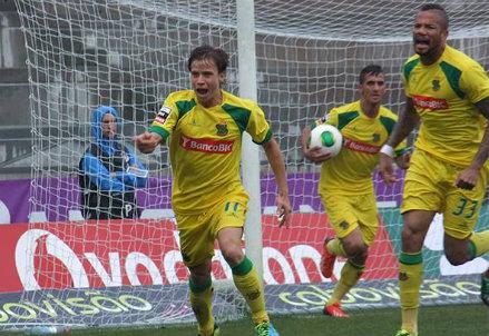 Il Paços Ferreira esulta per un gol