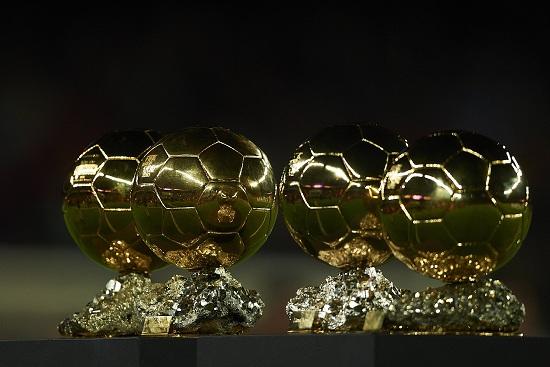 I quattro Palloni d'Oro vinti da Leo Messi (Infophoto)