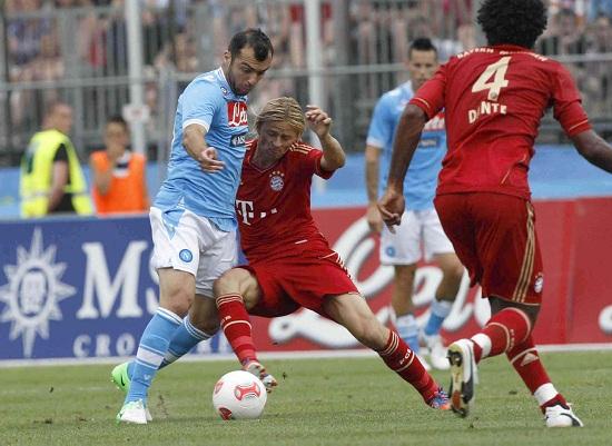 Goran Pandev nell'amichevole contro il Bayern Monaco (Infophoto)