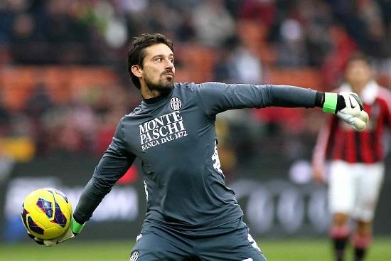 Gianluca Pegolo, 31 anni, portiere del Siena (Infophoto)
