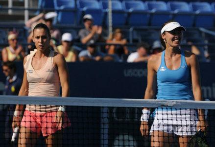 Flavia Pennetta (32 anni) e Martina Hingis (33) sono in finale nel doppio