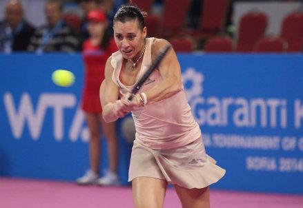 Flavia Pennetta, 32 anni, a Sofia finora una vittoria e una sconfitta