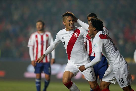 L'esultanza del Perù, terzo nella Coppa America 2015 (Infophoto)