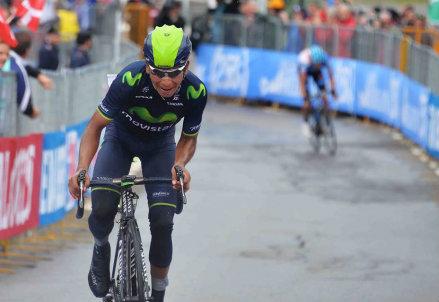 Nairo Quintana vince in Val Martello al Giro 2014 (da Facebook)