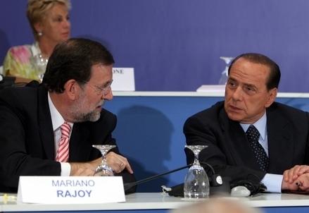 Mariano Rajoy e Silvio Berlusconi (Infophoto)