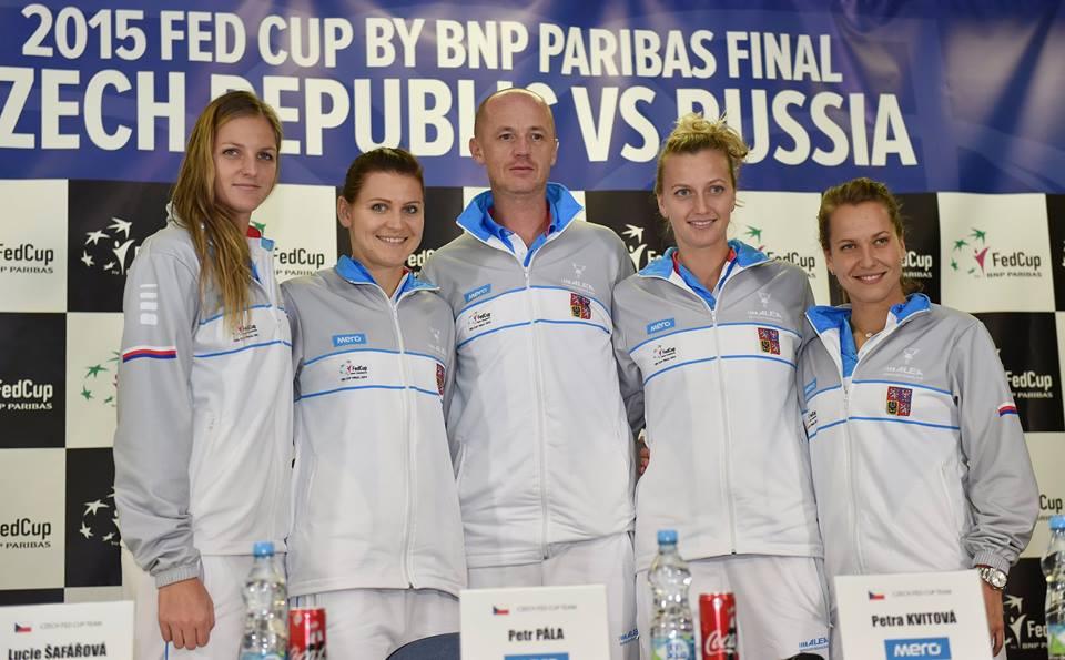 La squadra della Repubblica Ceca (da facebook.com/FedCup)