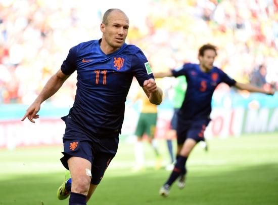 Terzo gol in questa Coppa del Mondo per Arjen Robben (Infophoto)