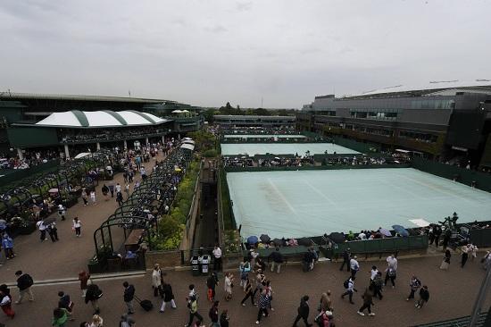 Veduta dall'alto dello Stade de Roland Garros