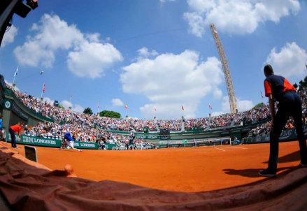 Suggestiva immagine dal Roland Garros