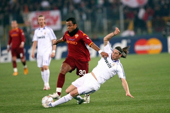 Nella foto: Roma-Real Madrid di Champions League, stagione 2007-2008 (Infophoto)