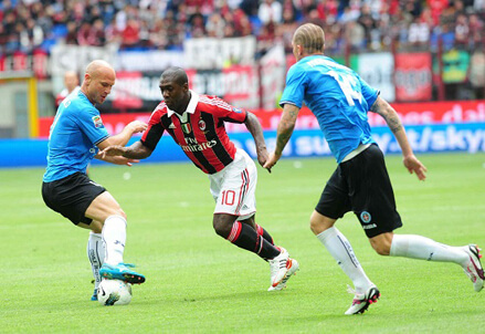 Clarence Seedorf, centrocampista Milan (Foto Infophoto)