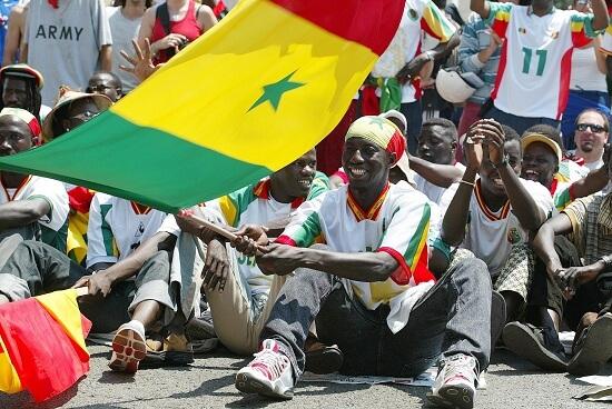 Un tifoso del Senegal
