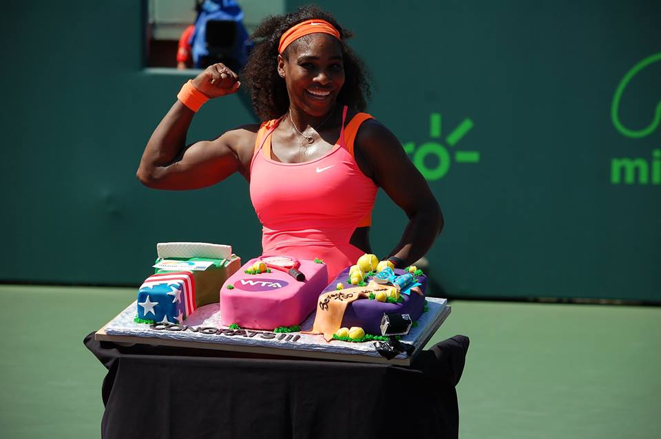 Serena Williams ha raggiunto le 700 vittorie in carriera (dall'account ufficiale facebook.com/MiamiOpenTennis)