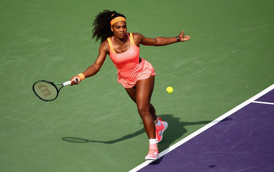 Serena Williams, 33 anni (dall'account ufficiale facebook.com/MiamiOpenTennis)