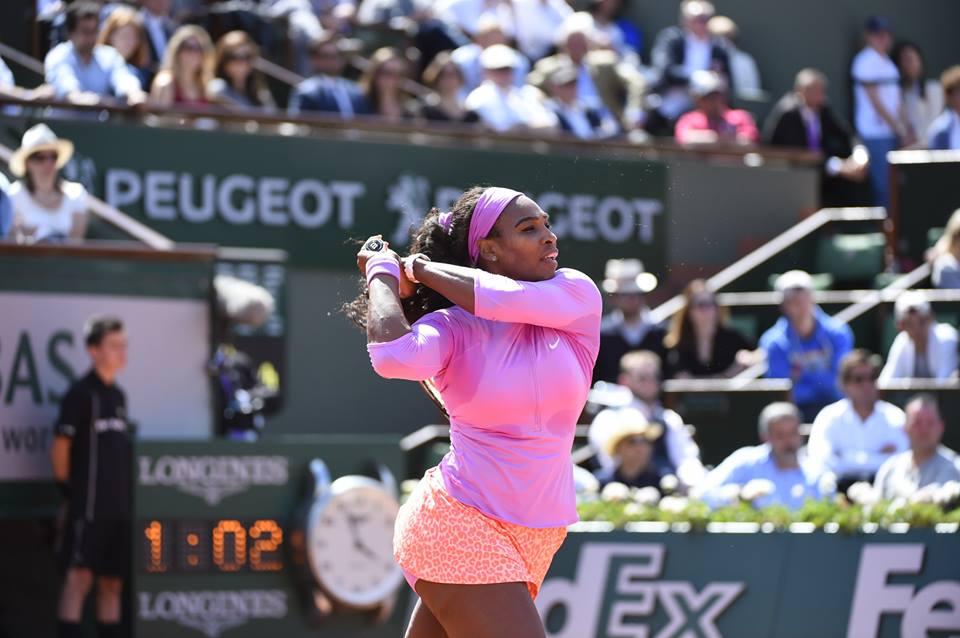 Serena Williams, 33 anni (dall'account ufficiale facebook.com/RolandGarros)