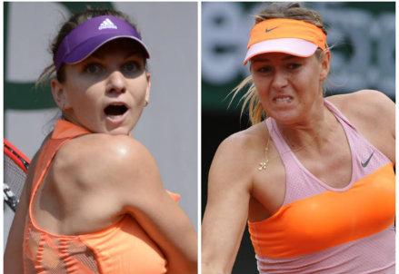 Simona Halep e Maria Sharapova: il bilancio è 3-0 a favore della russa