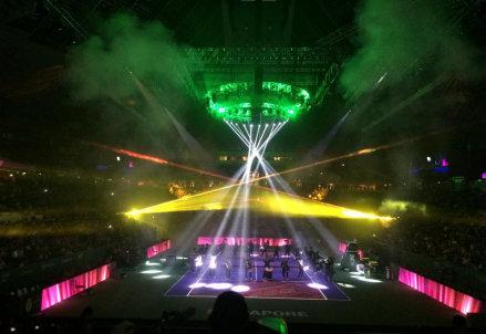 Un'immagine dalla cerimonia di apertura delle WTA Finals 2014