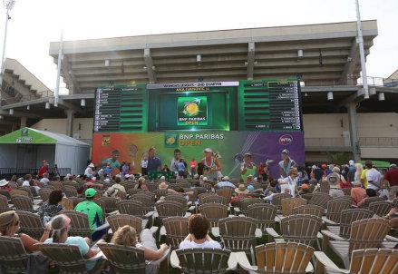 La cerimonia del sorteggio del tabellone WTA a Indian Wells