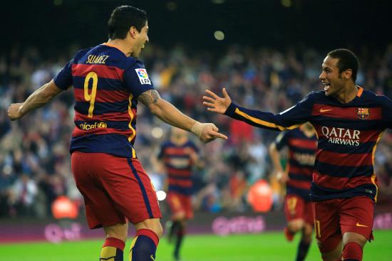 Suarez e Neymar saranno due delle stelle del torneo (Infophoto)