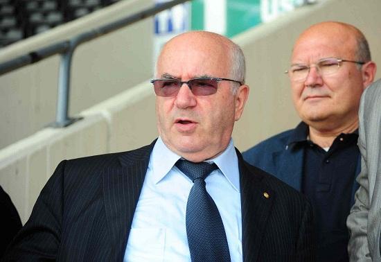 Carlo Tavecchio, 71 anni, presidente della Lega Nazionale Dilettanti (Infophoto)