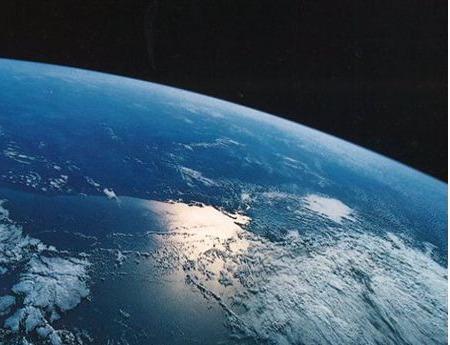 La terra vista dalla stazione orbitante