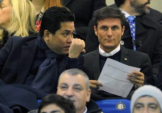 Thohir e Zanetti (Fonte Infophoto)