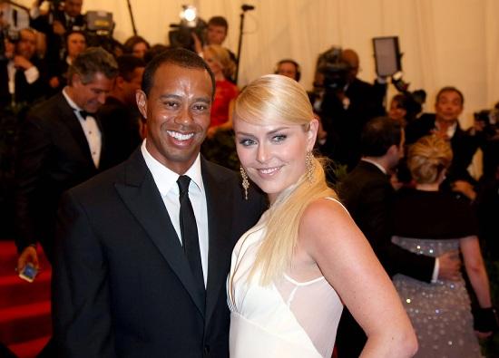 Tiger Woods e Lindsey Vonn (Infophoto)